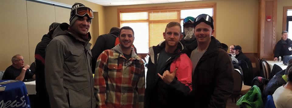 male alumni at skiing event