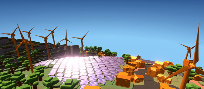 animated wind turbines